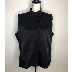 Eileen Fisher Black lightweight Zip up Vest large